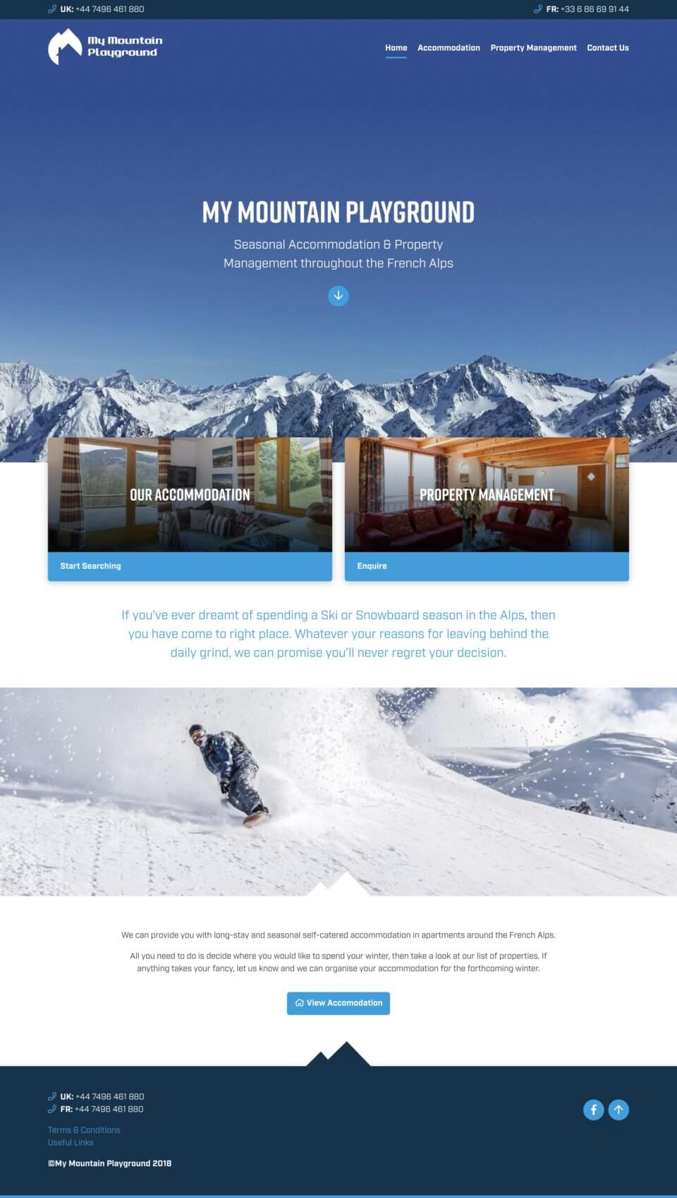 My Mountain Playground - Home Page
