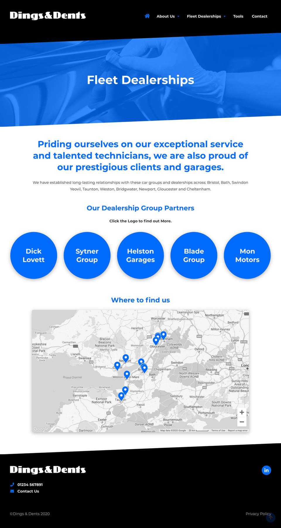Dings & Dents - Fleet Page